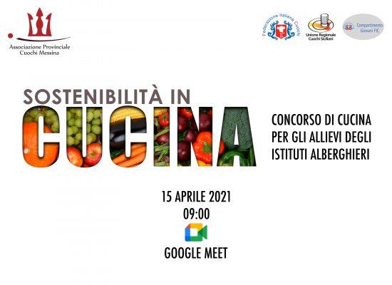 Locandina concorso sostenibilità in cucina