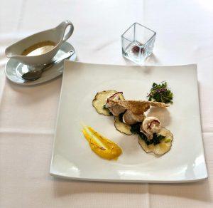 Il piatto vincitore  presentato dall'allievo Francesco Pavone dell'IISS S. Pugliatti di Taormina